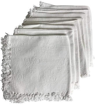 One Kings Lane Vintage French Damask Napkins - Set of 8 - Heather Cook Antiques