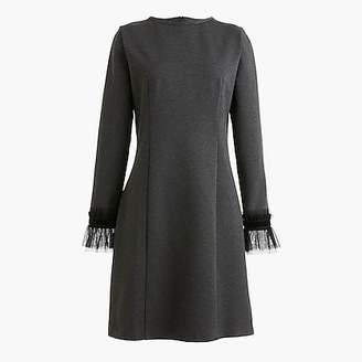 J.Crew Long-sleeve sheath dress with tulle