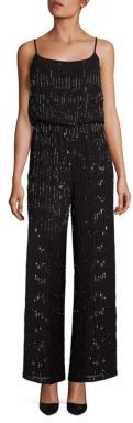 Laundry by Shelli Segal PLATINUM Beaded Jumpsuit $495 thestylecure.com