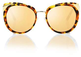 aa3a0263c9d0 Cat Eye Blanc Eclare Istanbul Honey Tortoise And Gold Metal With Gold  Mirror Lens