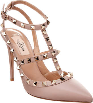 Valentino Roger Vivier Rockstud Leather Pump