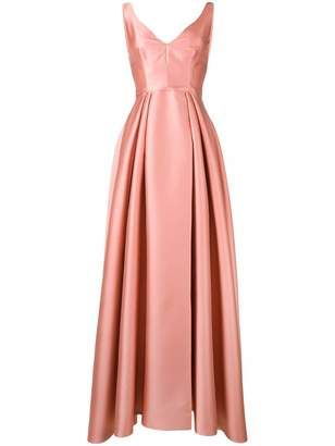Alberta Ferretti V-neck sleeveless gown