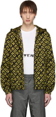 Givenchy Black and Yellow 4G Windbreaker Jacket