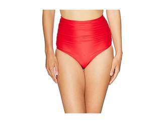 Unique Vintage Ruched Georgiana High-Waist Bottom