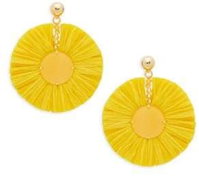 Oscar de la Renta Raffia Fan Drop Earrings