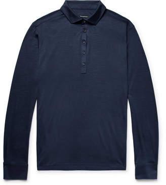 Ermenegildo Zegna Slim-Fit Striped Wool Polo Shirt