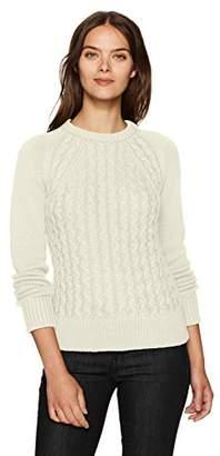 Pendleton Women's Contrast Cable Cotton/Cashmere Sweater