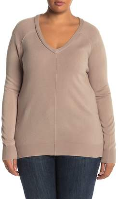 14th & Union V-Neck Pullover Sweater (Plus Size)