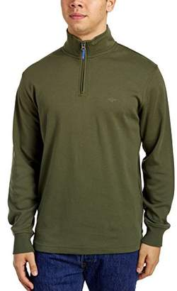 Dockers Men'sInterlock Quarter Zip Long Sleeve Sweater