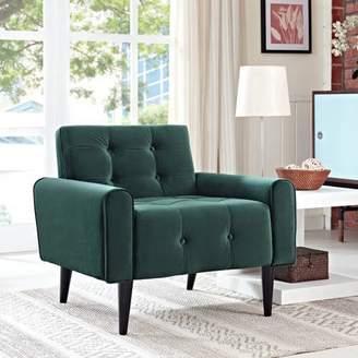 Modway Delve Velvet Tufted Armchair, Multiple Colors