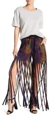 TOV Tie Dye Fringe Shorts