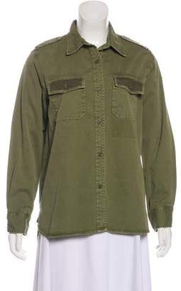 Current/Elliott Distressed Button-Up Top w/ Tags