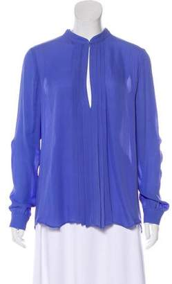 L'Agence Long Sleeve Pleated Blouse