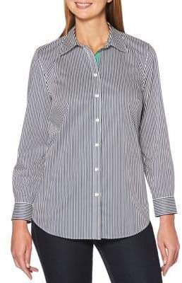 Rafaella Petite Striped Button-Down Shirt