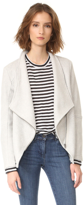 BB Dakota Samily Fleece Moto Jacket $105 thestylecure.com