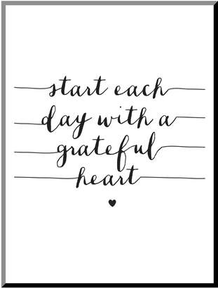 The Art Studio Start Each Day With a Grateful Heart by Brett Wilson (Mounted Print)