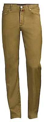 Kiton Men's Wool Straight-Leg Jeans