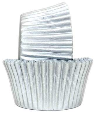 Majestic Chef Greaseproof Baking Cups Solid Silver Matte