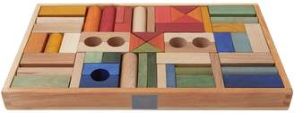story. Wooden Rainbow Wooden Blocks, 54 Pieces