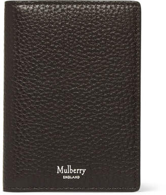 Mulberry Full-Grain Leather Billfold Cardholder - Men - Dark brown