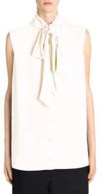 Alexander McQueen Sleeveless Silk Scarf Top
