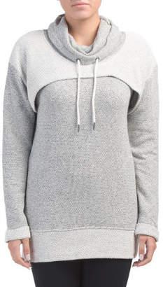 Heathered Cowl Neck Sweatshirt