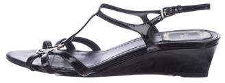 Christian Dior Logo Patent Leather Wedges