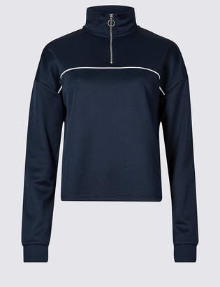 Limited Edition Funnel Neck Long Sleeve Top