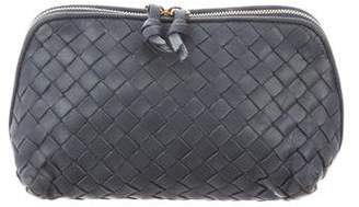 Bottega Veneta Intrecciato Leather Cosmetic Bag