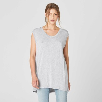 DSTLD Modal Muscle Tee in Heather Grey