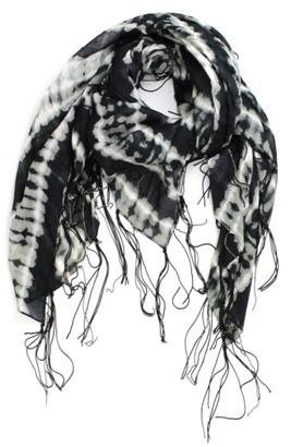 Women's Michael Stars Tie Dye Fringe Scarf $48 thestylecure.com