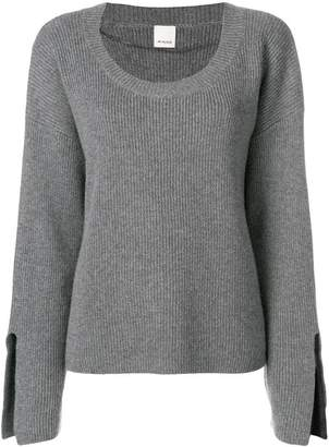 Pinko ribbed slit cuff sweater