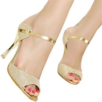adbb9112b15 HEART LOVE Women Sandals Sexy High Heels Women Pumps NEW Women Shoes Silver  Summer Sandals
