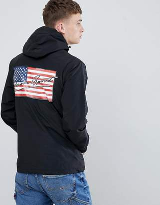 Penn Sport windbreaker hooded jacket in black