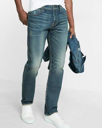Express Classic Slim Light Wash Distressed Stretch+ Jeans
