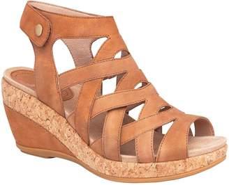 Dansko Open-Toe Wedge Leather Sandals - Cecily