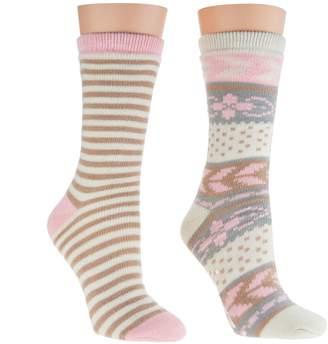 Muk Luks Cozy-Lined Socks Set of 2