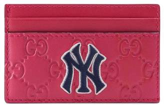 Gucci Card case with NY YankeesTM patch
