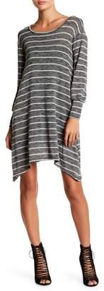 American Twist Scoop Neck Striped Knit Dress