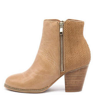Django & Juliette New Roby Tan Cut Leather Tan Womens Shoes Casual Boots Ankle