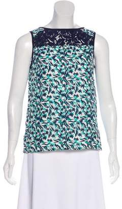 Draper James Silk Printed Top