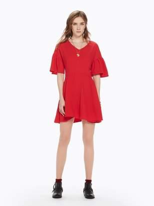 Scotch & Soda Eyelet Short Sleeve Dress
