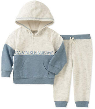 Calvin Klein Baby Boy's Two-Piece Hoodie Jogger Pants Set