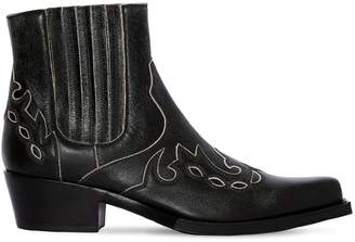 Calvin Klein Cal Cavert Leather Ankle Boots
