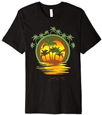 Trendy Graphic Beach Novelty T-shirt for Men