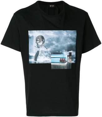 No.21 multi-print T-shirt