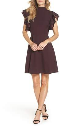 Chelsea28 Crepe Fit & Flare Dress