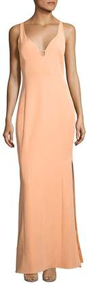 Laundry by Shelli Segal Women's Cutout Stretch Crepe Gown