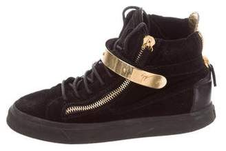 Giuseppe Zanotti Suede High-Top Sneakers