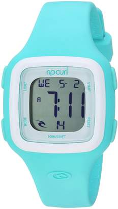 Rip Curl Women's 'Candy' Quartz Plastic and Silicone Sport Watch, Color Green (Model: A3126G-MNW)